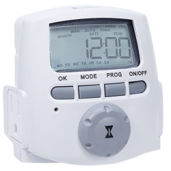 TIMER ELECTRONICO ENCHUFABLE 125V 15A DOS TOMACORRIENTES