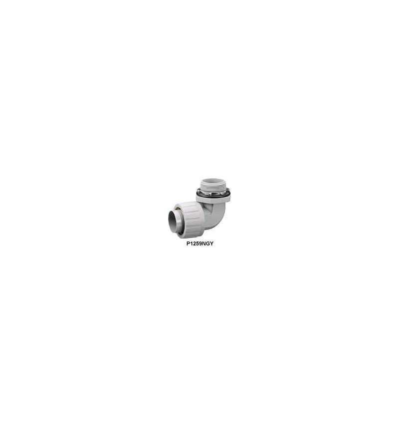 """CONECTOR PARA TUBO FLEXIBLE NO METALICO CURVO DE 1-1/4"""" (35mm)"""