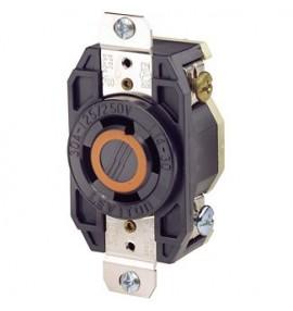 TOMACORRIENTE 3 FASES 3 HILOS 30A 125/250V NEMA L14-30 EMPOTRABLE USO INDUSTRIAL