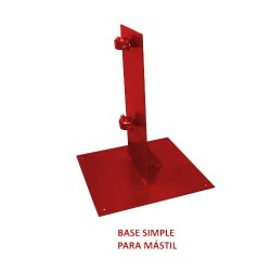 BASE SIMPLE PARA MASTIL
