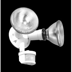 REFLECTOR CON SENSOR DE MOVIMIENTO 2 X120W 127v BLANCO PARA PARED