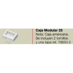 CAJA MODULAR 2X4 BLANCA PARA CANALETA