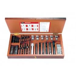 Juego de extractores de tornillos y tubos modelo 25
