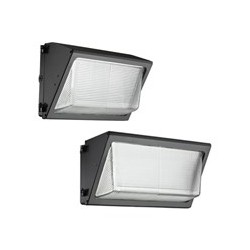 LUMINARIA TIPO WALLPACK LED 40 WATTS 120-277V BRONCE