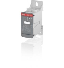 Bloque distribucion 1P 125A 1000V AC/DC Cal. 2 AWG Entrada Cal. 6 AWG Salida x 6