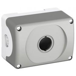 Botonera Plastica Gris 1 Orificio IP66, MEP1-0 NEMA 1, 3R, 4, 4X, 12, 13, Modular o Compacto