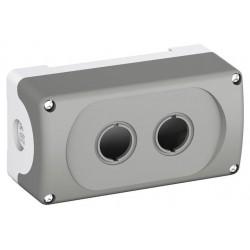 Botonera Plastica Gris 2 Orificios IP66, MEP2-0 NEMA 1, 3R, 4, 4X, 12, 13 Modular o Compact