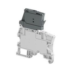 Clema portafusible 5x20 mm Cal. 10 AWG 6.3A 150V Color Gris