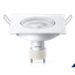 SPOT CUADRADO LED 5 W 100 - 240V MR16 GU10 2700 K