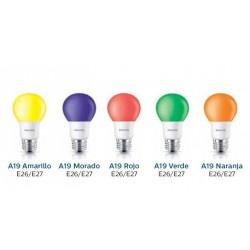 FOCO LED 8 W 120 V A19 E26 AMARILLO
