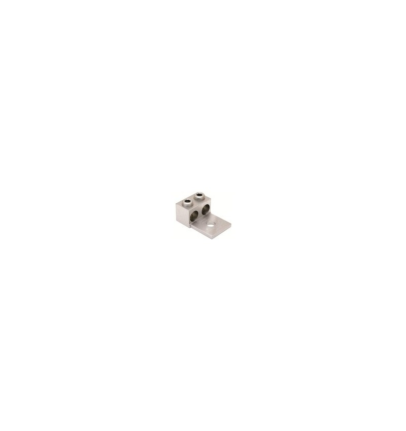 """ZAPATA MECANICA PARA 2 CABLES CAL. 4-350 AWG TORNILLO 1/2"""" (12.7mm)"""