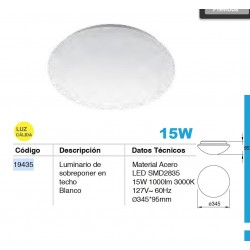 Cloud 15W LED 34cm con sensor Infrarrojo luz Neutra