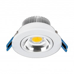 "Point Orientable 5W LED Luz Calida 3"""