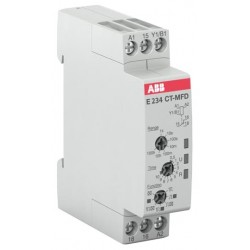 Timer Relevador CT-MFD.12 multifunction 7 Func. 0-100 hrs, 1c/o, 24-240VAC 24-48VDC
