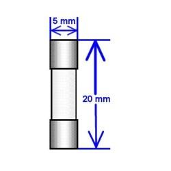 Fusible Tipo Gma 7 A 250 V Tiempo Rapido