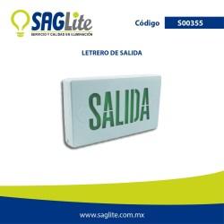 Emergencia letrero de salida verde plastico 100 - 277V