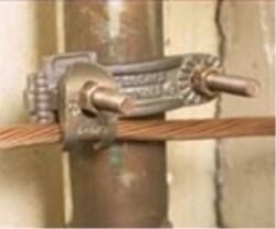 CONECTOR GAR PARA VARILLA TIERRA 5/8 - 3/4 CABLE  No. 4 - 2/0 AWG