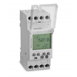 INTERRUPTOR ELECTRONICO RIEL DIN 110-230V 16A 100 PROGRAMAS NIP DOS CANALES