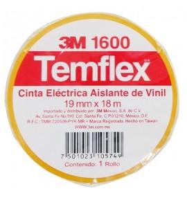 CINTA TEMFLEX 1600 AMARILLA 3/4in X 27Ft ( 19mm X 8.3m)