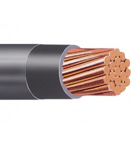 CABLE THWN 2 AWG NEGRO