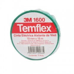 CINTA TEMFLEX 1600 VERDE 3/4in X 27Ft (19mm X 8.3m)