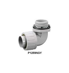"CONECTOR PARA TUBO FLEXIBLE NO METALICO CURVO DE 1-1/4"" (35mm)"