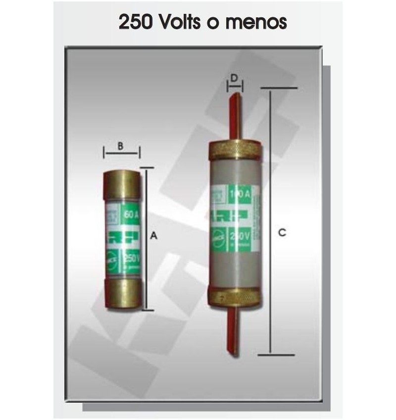 FUSIBLE DE CARTUCHO 60 AMP 250V
