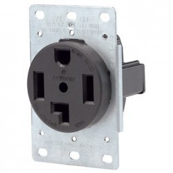 TOMACORRIENTE 3 FASES 4 HILOS 30A 125/250V NEMA 14-30R EMPOTRABLE USO INDUSTRIAL