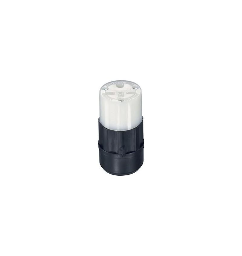 TOMACORRIENTE COLGANTE 15A 250V NEMA 6-15R NEGRO/BLANCO USO INDUSTRIAL