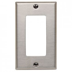 TAPA DECORA ACERO INOX 2X4 1 DISPOSITIVOS