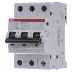 INTERRUPTOR TERMOMAGNETIC 3P 20A 480VAC Tipo Riel Din 6 kAIC