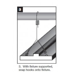 Cable para colgantear luminaria 10 pies (un par)