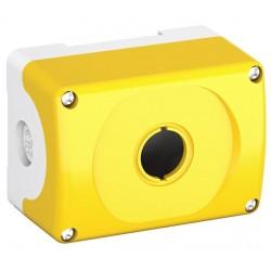 Botonera Plastica Gris-Amarillo 1 Orificio IP66, MEPY1-0 NEMA 1, 3R, 4, 4X, 12, 13 P/Serie Modular o Compacta