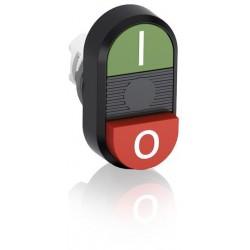 Boton para arrancador Rojo-Verde MPD13-11B No Iluminado saliente