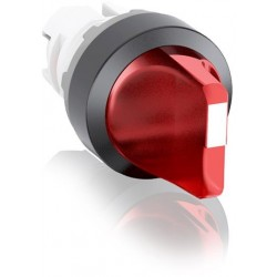 Selector Rojo 2 posiciones fijas maneta corta, iluminado sin foco M2SS1-11R