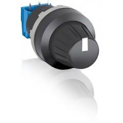 Boton potenciometro 10 Kohm, bisel plastico negro. MT-110B