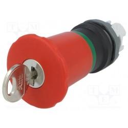 Boton hongo Paro Emergencia Rojo llave ronis 455 no iluminado 40mm MPEK4-11R