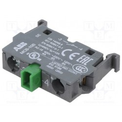 Contacto Auxiliar 1NA para Botonera, MCB-10B Montaje a riel DIN c/ adaptador, Montaje POSTERIOR
