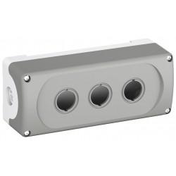 Botonera Plastica Gris 3 Orificios IP66, MEP3-0 NEMA 1, 3R, 4, 4X, 12, 13 P/Serie Mod. o Compacto