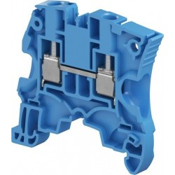 Clema de paso Cal. 10 AWG 41A 600V Color Azul Tipo Tornillo