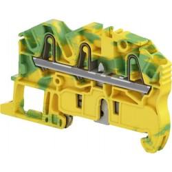 Clema de paso para tierra 3 cables cal. 12 AWG Color Verde