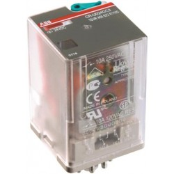 Relevador Miniatura CR-U 110AC3L Bobina 110VAC 10 A 250V 11 pin, 3 c/o, LED