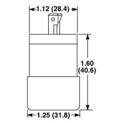 CLAVIJA 2 FASES 3 HILOS 15 A 125/250V NEMA ML-3 USO INDUSTRIAL