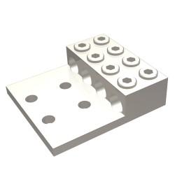 """ZAPATA MECANICA PARA 4 CABLES CAL. 2-600 AWG TORNILLO 1/2"""" (12.7mm) 4 ORIFICIOS"""