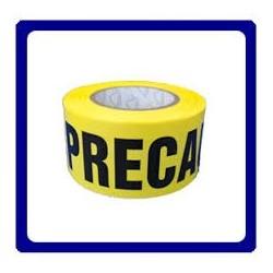 """CINTA DE PRECAUCION COLOR AMARILLO 305 m 3"""" ancho"""
