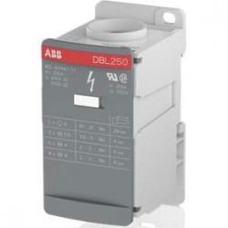 Bloque distribucion 1P 250A 1000V AC/DC Entrada Cal. 250 MCM / Salidas 2H Cal. 2 AWG 5H Cal 6 AWG 4H Cal 8 AWG