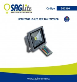 REFLECTOR LQ-LED 10W RGB 100-277V