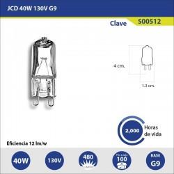 Foco Halogeno 40 W 130 V Jcd G9 2700 K