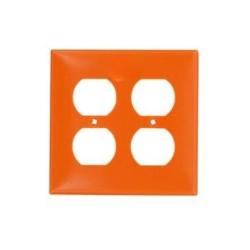 Tapa Plastico 4X4 2 Tomacorriente Doble Naranja