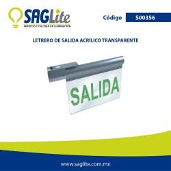 Emergencia letrero de salida acrilico transparente 100-277V